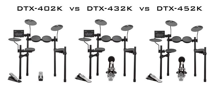 dtx402k vs 432k vs 452k