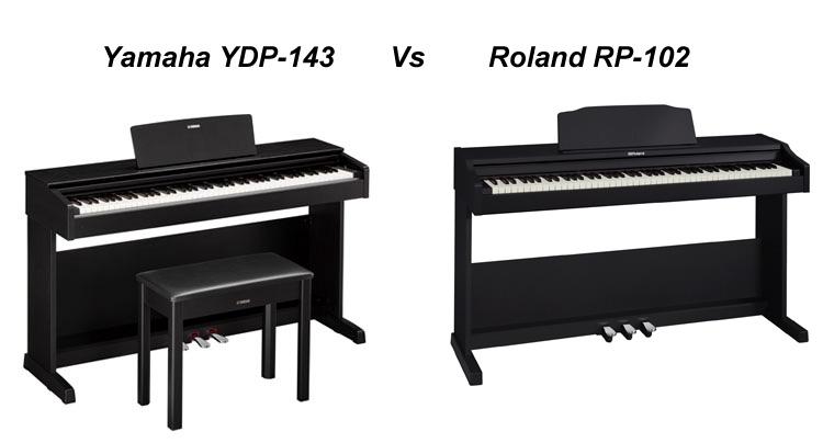 Yamah Arius YDP-143 VS Roland RP-102